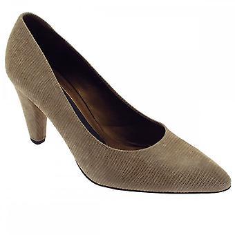 Peter Kaiser Carline taupe lizard Skin høy hæl Court Shoe