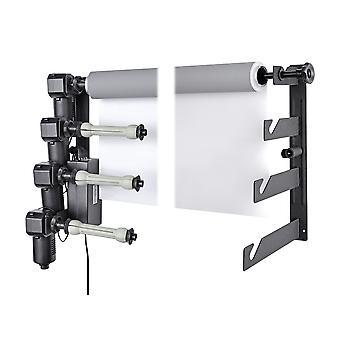 BRESSER MB-4Y elektrisk väggfäste för 4 papper bakgrund rullar