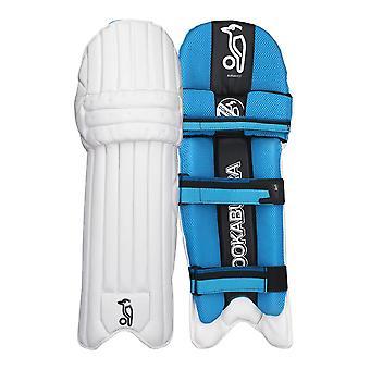 Kookaburra 2018 bølge 800 Cricket Batting Pads etappe vakter hvit/blå