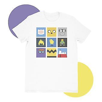 Minimilist cartoon white t-shirt