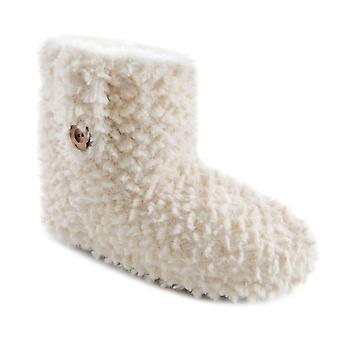 SlumberzzZ Womens peluche tuffeté entièrement doublé Boot chaussons