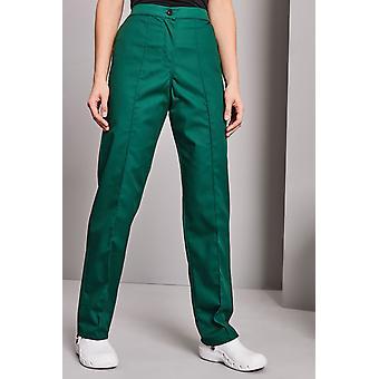 SIMON JERSEY Women's Flat Front Trousers, Bottle Green