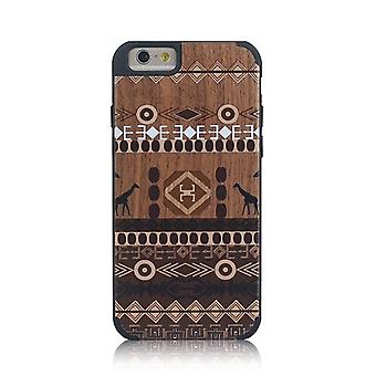 For iPhone 6S,6 Case, African Ethnic Wooden Durable Shielding Cover