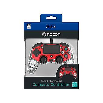 Nacon Compact Controller For PlayStation 4 PS4 - Light Red