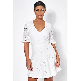 Luciana Broderie Anglaise Shift Dress