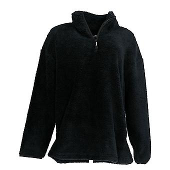 Skechers Women-apos;s Sweater Sherpa Lg-Sleeve Wildwood Pullover Black A344997