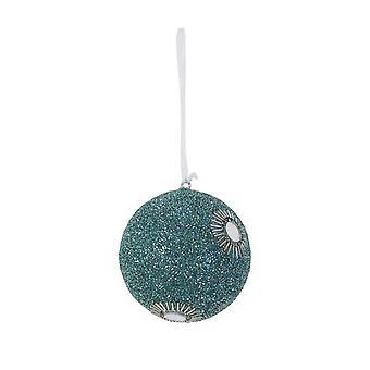 Lys & Levende Christmas Bauble Runde 10cm Bolun Blå