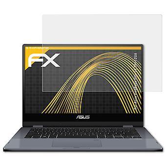 atFoliX Glass Protector compatibel met Asus VivoBook Flip 14 TP412UA 9H Hybrid-Glass