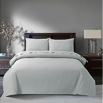 Silber ägyptische Baumwolle Bettdecke Set - König