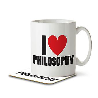 I Love Philosophy - Mug and Coaster