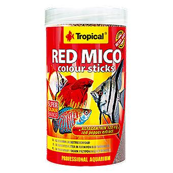 Tropiska 63554 Mico Rojo Färgpinnar (Fisk, Mat, Varmt vatten)