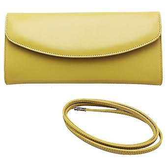 Peter Kaiser Lime Winema Fold Over Clutch