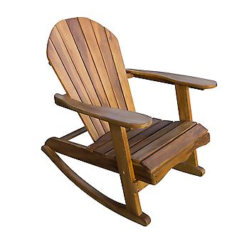 Teak Adirondack Rocking Chair - Wooden Outdoor Patio Garden Furniture