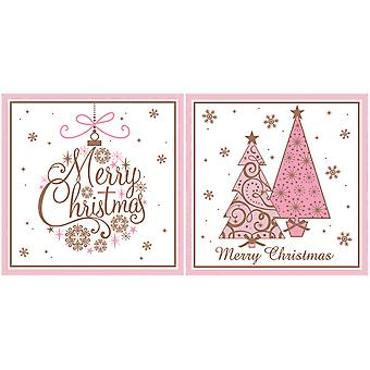 Eurowrap Trees and Bauble Christmas Cards (24 x Pack of 12)