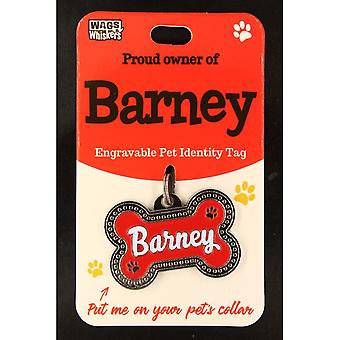 Wags & Whiskers Pet Identity Tag - Barney
