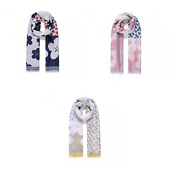 Intrigue Womens/Ladies Patchwork Blossom Print Scarf