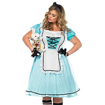 Womens Plus Size Storybook Tea Time Alice In Wonderland Costume