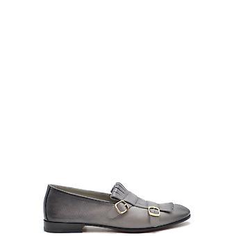 Santoni Ezbc023014 Women's Grey Leather Loafers