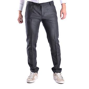Trussardi Ezbc149013 Men's Grey Wool Pants