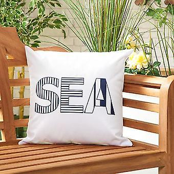 """Marina Sea Water Resistant Canvas Outdoor Scatter Garden Gevuld Kussen Gedrukt 18"""" (45cm)"""