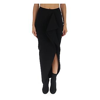 Rick Owens Ro19f5683kst09 Women's Black Viscose Skirt