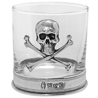 Poison Skull & Crossbones Zinn Whisky Glas einzelne Tumbler