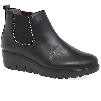 Wonders Barcelona Womens Wedge Heel Chelsea Boots