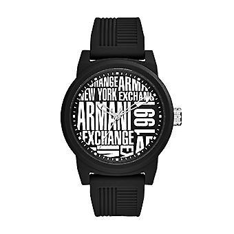 Armani Exchange Mens Quartz analog clock with Silicone strap AX1443