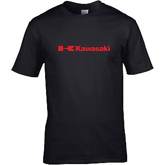 Kawasaki Rød Logo - Motorsykkel Motorsykkel Biker - DTG Trykt T-skjorte