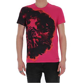 Alexander Mcqueen 609577qoz910917 Men's Fuchsia Cotton T-shirt