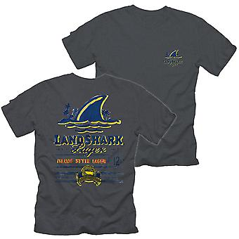 Landshark Lager Label Front and Back Print T-Shirt