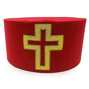 Masonic knight templar sir knight passion cross cap hat crown