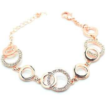 VIP Rose Gold Plated Crystal Set Circle Bracelet