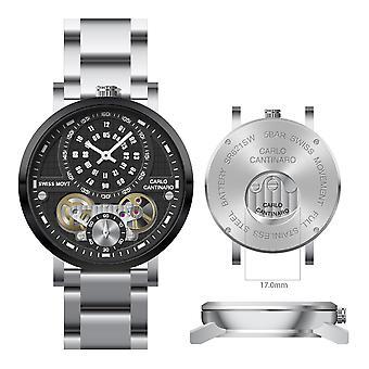 Carlo Cantinaro CC1004GB001 Men's Watch Quartzmatic GMT