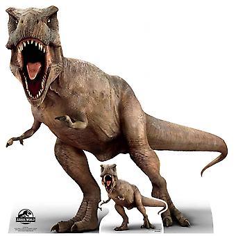 Tyrannosaurus Rex officiel Jurassic World découpe de carton / voyageur debout