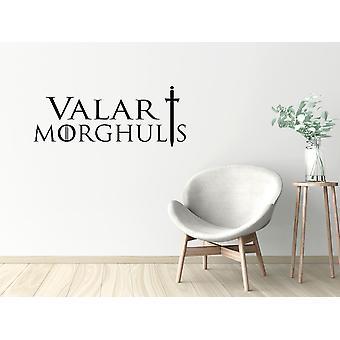 Wall décor | Game of Thrones | Valar Morghulis | 35 x 14 cm