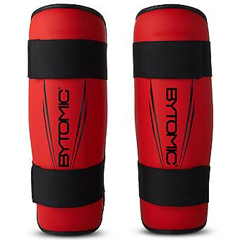 Bytomic Axis V2 Shin Guards Rouge/Noir