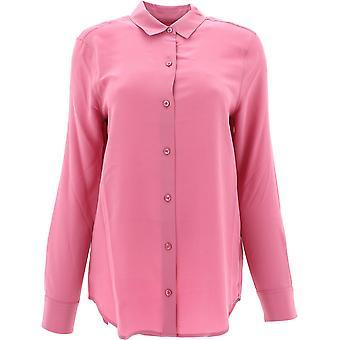 Equipment 195q23e900redviolet Women's Pink Silk Shirt