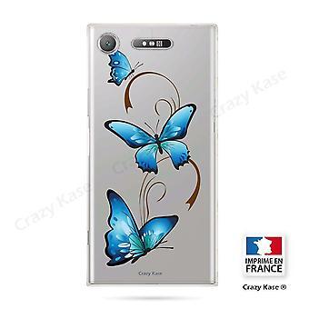Rumpf für Sony Xperia Xz1 Flexible Schmetterling Muster auf Arabesque