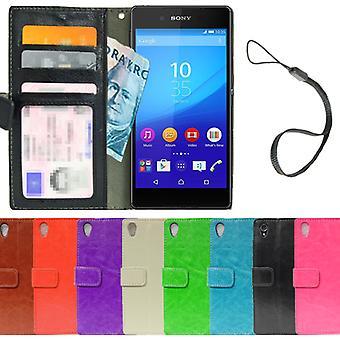 Sony Xperia M4 Aqua Wallet Case 4pcs Card + screen Protector