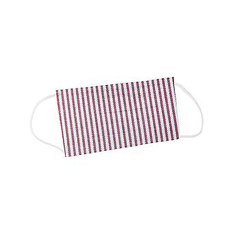 Mio BOB2 Heritage Stripe Red and White Cotton Face Mask with Removable Filter and Nose Wire