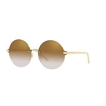 Dolce&Gabbana DG2228 02/6E Gold/Gradient Light Brown Mirror Gold Sonnenbrille