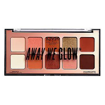 Eye Shadow Palette Away We Glow NYX (10 x 1 g)