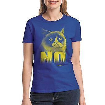 Grumpy Cat No Women's Royal Blue Funny T-shirt
