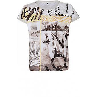 Olsen Bold Print Jersey T-shirt