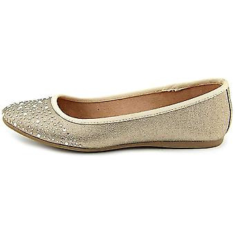 Stijl & Co. Womens Angelynn amandel teen dia flats