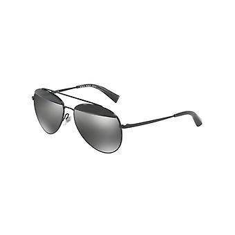 Alain Mikli Paon A04004 006/6G Pontille Black-Matte Black/Grey Silver Mirror Sunglasses