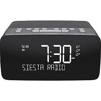 Pure Siesta Charge Radio ceas cu alarmă DAB+, FM Bluetooth, USB Încărcător baterie Grafit