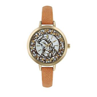 Montre-bracelet analogique Disney Belle Glitzy Quartz