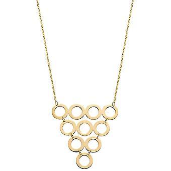 Elementen Gouden Multi Circle Ketting - Goud